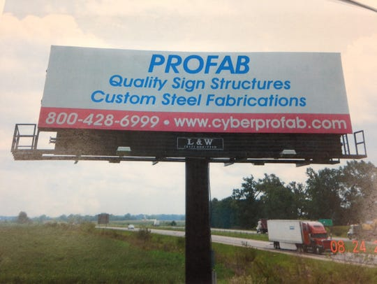 L&W Outdoor Advertising says a new billboard on Interstate