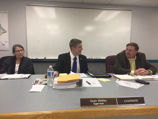 Hellam township supervisors talk before the Thursday, Dec. 15 meeting. From right, vice chairman Phil Smith, chairman Galen Weibley and supervisor Amy Nevin.
