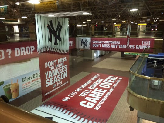 The YES Network set up these advertisements in 2015