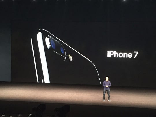 Apple CEO Tim Cook at the iPhone 7 introduction last