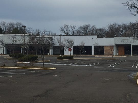 An empty strip mall on Route 18 in East Brunswick.