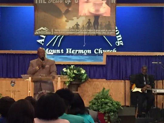 Senior Pastor William Glover from Mount Herman Church