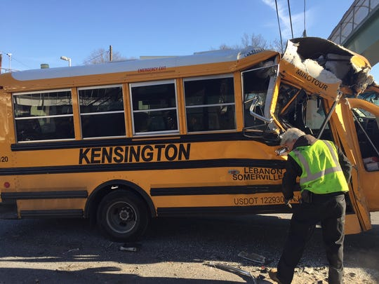 Police are investigating an accident on Route 18 involving a school bus and an NJ Transit bus. There was one minor injury to a passenger on the school bus, police said.