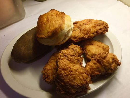 Order of Southern fried chicken at Jack's Grill.