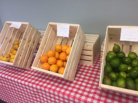 Crates of fresh fruits and veggies greet customers to The Juice Bar in Merchantville. The produce is for juices and smoothies, but also available for sale.