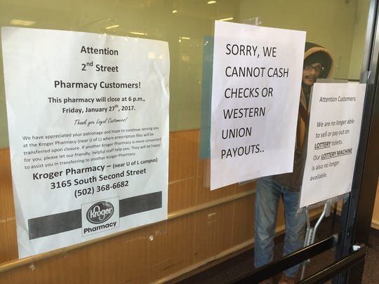 Signs updated Kroger shoppers on the effect of the