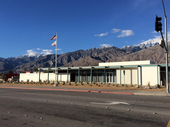 Palm Springs Unified School District building in central Palm Springs.