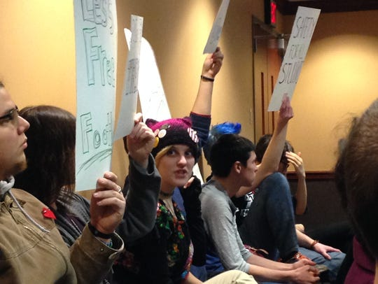 Ball State students protest a shortage of mental health-care
