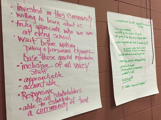 Community members turned out Wednesday to give feedback on what they want to see in a new Asheville City Schools superintendent.