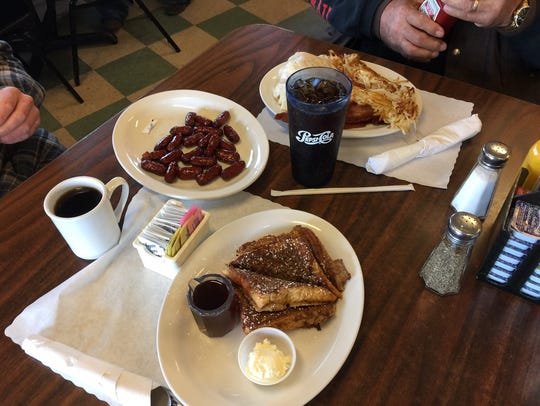Two breakfast orders at the Branding Iron in north