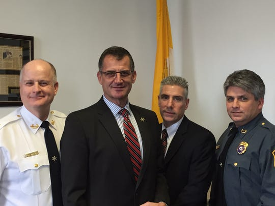 From left, Morris County Sheriff James M. Gannon, Undersheriff Mark Spitzer, Chief Warrant Officer Richard Rose and office Chief Edward Crooker.