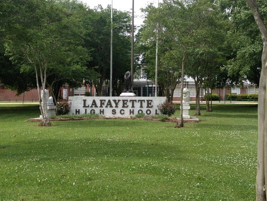 A large number of students at Lafayette High School