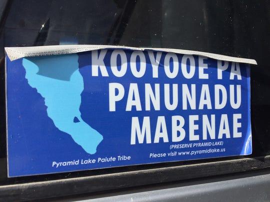 """A bumper sticker reads """"Kooyooe Pa Panunadu Mabenae,"""""""