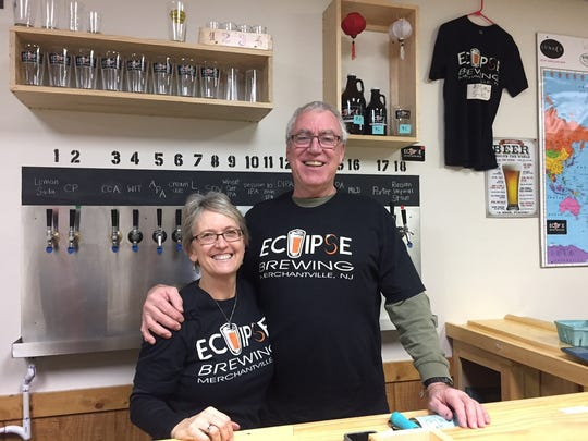 Beth Manning and Chris Mattern are behind the bar in