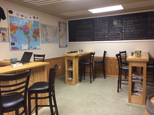 The Eclipse tasting room is small and laid-back, with board games and maps on the wall so guests can pin their hometowns.