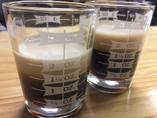 Eclipse offers flight tastings in special shot glasses. Pours vary depending on the alcohol content of each beer.
