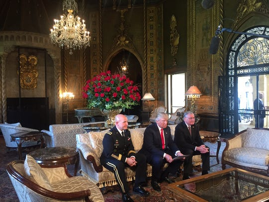 Lt. Gen. H.R. McMaster, President Trump, and Keith