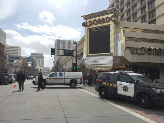 Emergency crews were on the scene Thursday, Feb. 23 of an incident at the Eldorado Hotel Casino in downtown Reno.