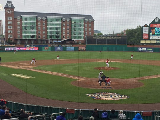 The Eastern League's Binghamton Mets and New Hampshire