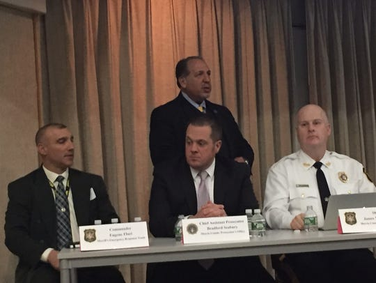From left, SERT commander Gene Fluri, Morris County