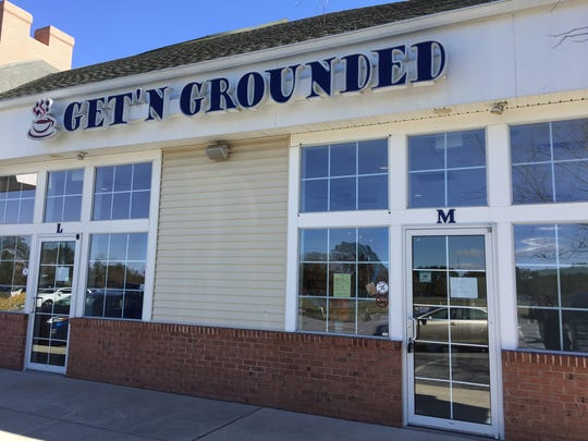 "This March 2, 2017 photo shows the front of the former Get'N Grounded coffee shop in the Princess Anne Village shopping center in Princess Anne. The coffee shop property has been leased to the UMES Foundation at the University of Maryland Eastern Shore and is set to reopen in April as the M Street Grille. The shopping center, meanwhile has been renamed to include ""University"" in its title."