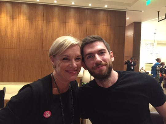Planned Parenthood President Cecile Richards and Tumblr CEO David Karp.