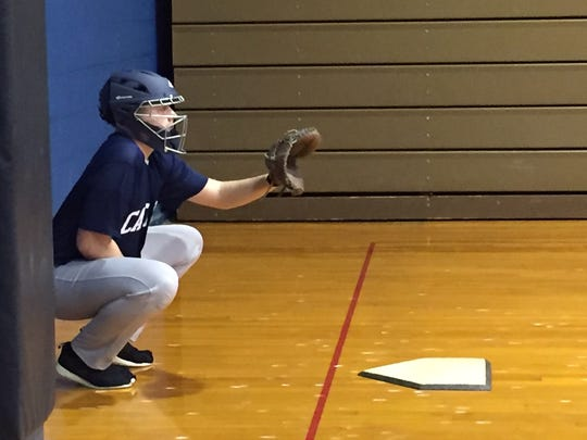 Lebanon Catholic senior Nick Hartman is stretching his versatility to behind the plate this season.