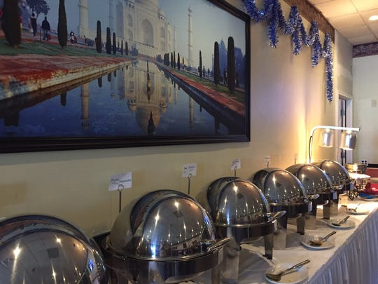 Taj Mahal Fine Indian Restaurant offers a variety of foods at its buffet served daily from 11 a.m. to 2:30 p.m.