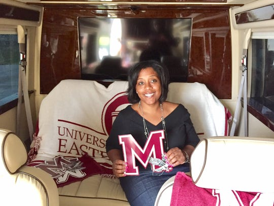 Kim Dumpson, UMES executive vice president, sits in
