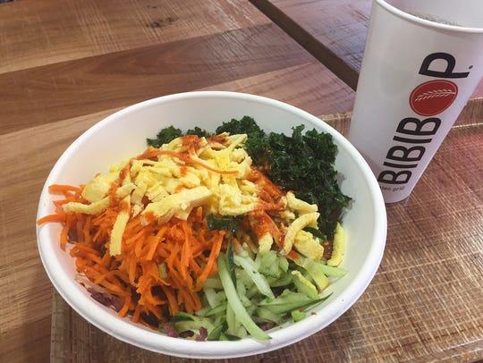 A rice bowl at Bibibop.