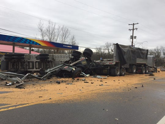 One person was killed in a crash involving two commercial