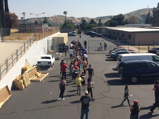 Two adults were killed and two students were critically injured Monday morning inside San Bernardino's North Park Elementary School in an apparent murder-suicide, according to police.