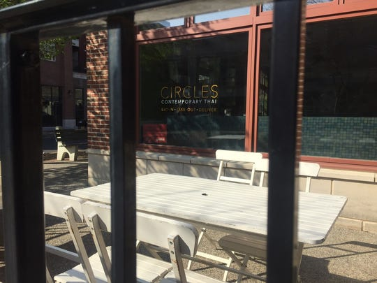 Circles offers an outdoor patio for guests in warmer