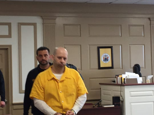 Brian Buginsky, admitted child molester, is brought into Superior Court, Morristown, on April 21, 2017.