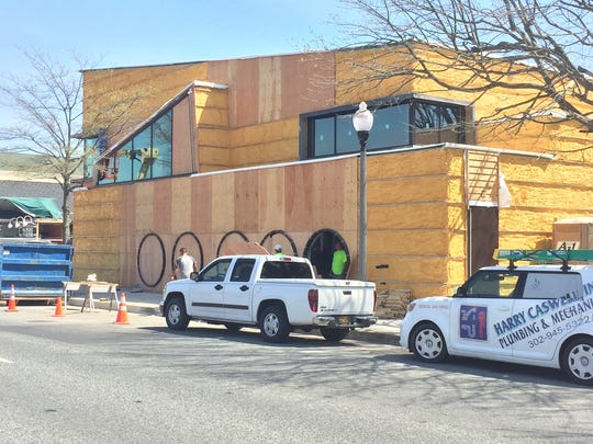 The new Dogfish Head brewpub on Rehoboth Avenue has been under construction since last year. It's expected to open in a few weeks.