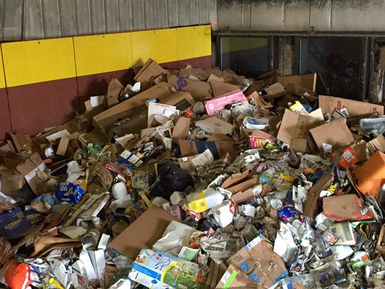 Single use styrofoam food containers can't be recycled through the Monroe County curbside program.