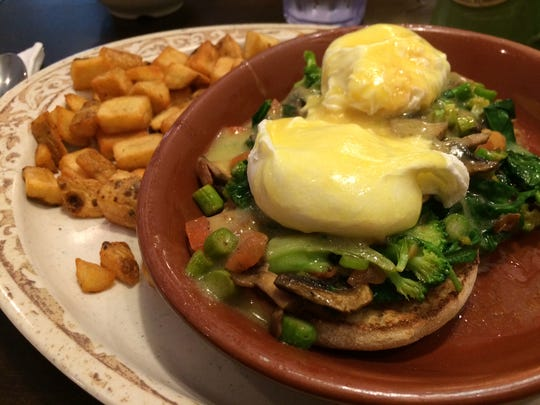 The Veggie Benedict at The Egg Cafe & Eatery.