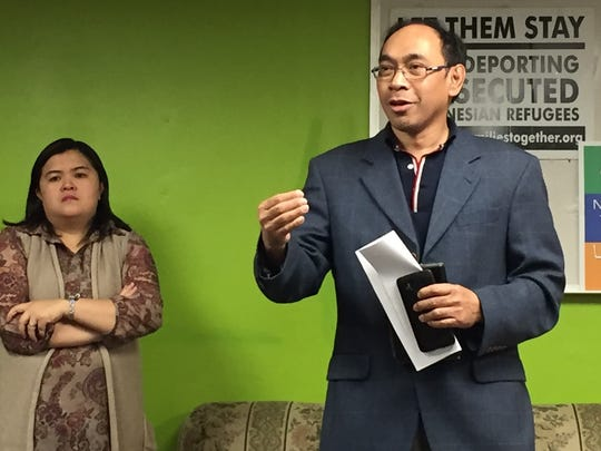 Pastor Steven Rantung of Seventh Day Adventist Church in South Plainfield and Pastor Fransisca Rumokoy of Reformed Church of Metuchen speak about the Indonesian Christians detained by ICE.