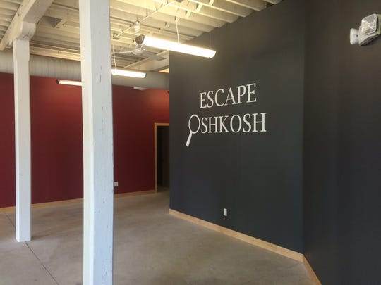 At Escape Oshkosh. 146 Algoma Blvd. suite C, guests must escape from a locked room by solving a series of puzzles presented as a mystery.