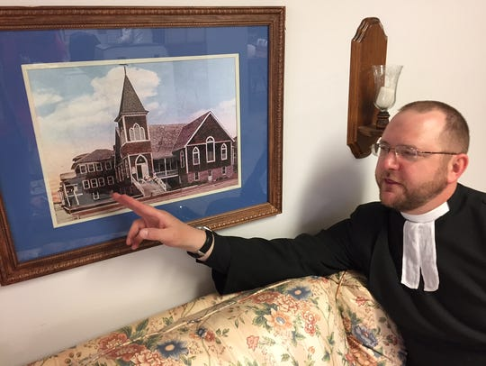 In this Saturday, May 13, 2017 photo, the Rev. Matthew