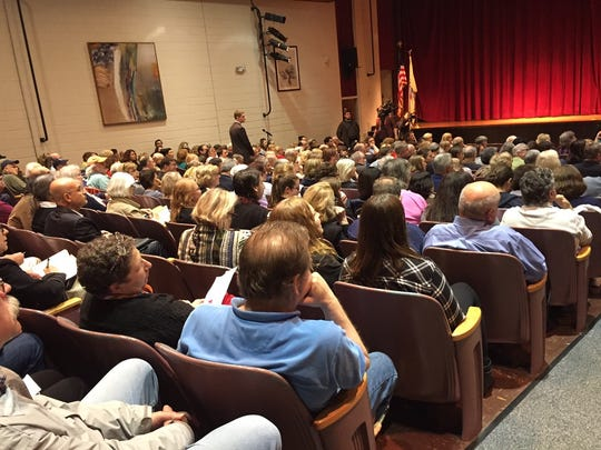The audience at U.S. Rep. Leonard Lance's Town Hall