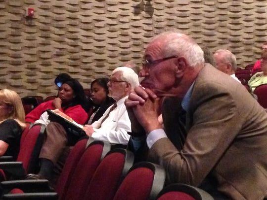 Steve Edwards listens to presentations at Southside
