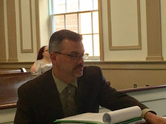 Morris County Assistant Prosecutor Vincent Leo in Superior Court, Morristown.