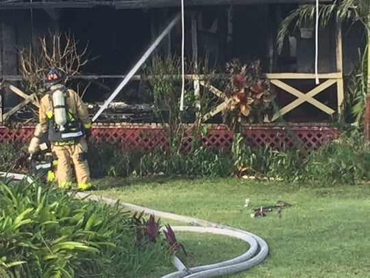 Structure fire in Suntree