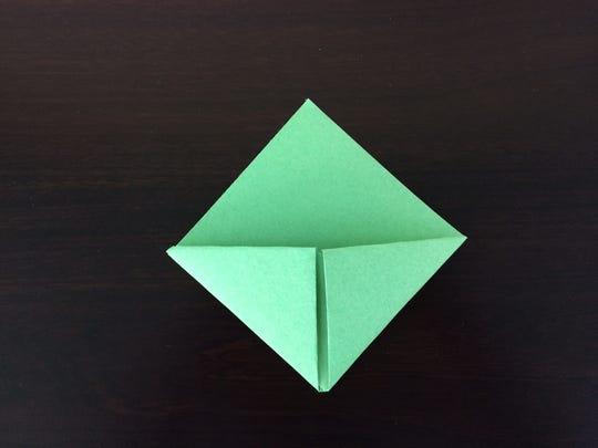 DIY corner bookmark
