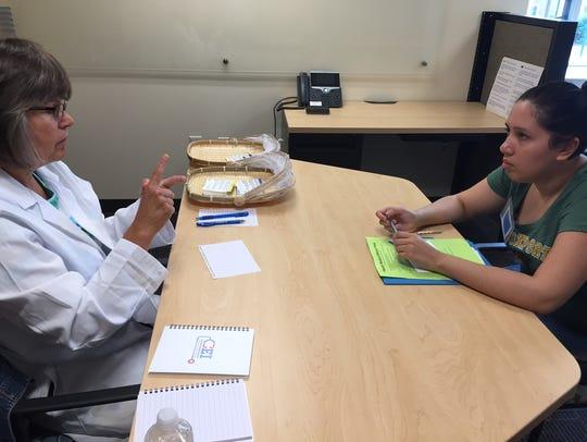 College at Brockport nursing student Ellana Aldir,