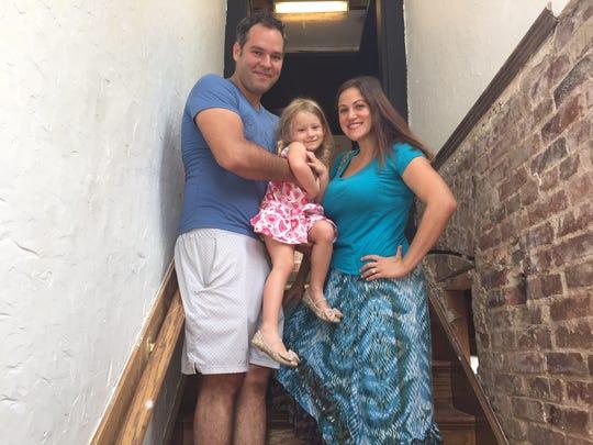 Chef Ricardo Carrasco, his fiance Tori Frasher, and