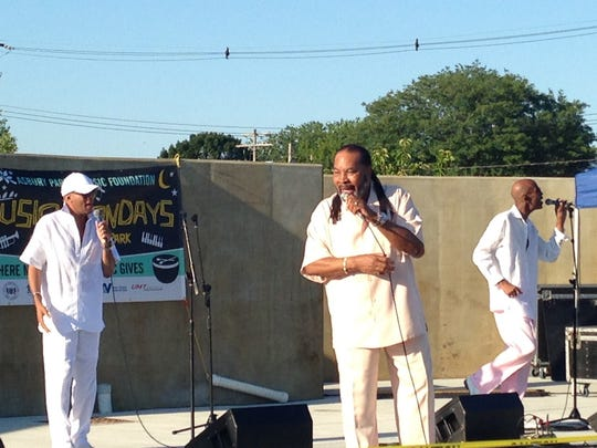 Billy Brown, center, at the Ray, Goodman and Brown concert Monday, July 24 at the Springwood Avenue Park in Asbury Park.