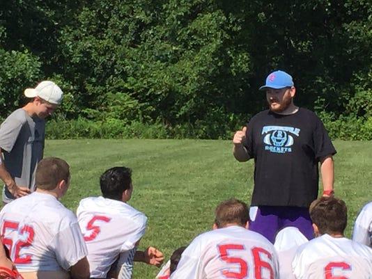 Ridgedale football coach Joe Roberts