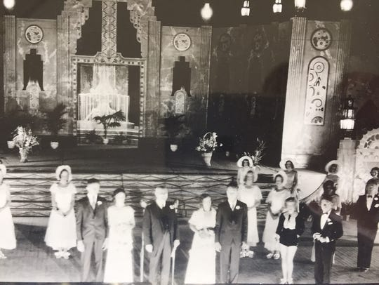 This photograph shows the wedding ceremony Aug. 26,